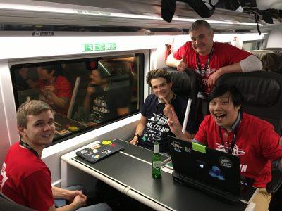 HackTrain 3.0 on the Eurostar