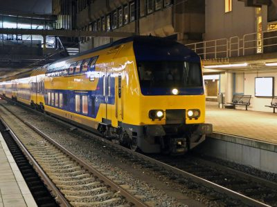 Passengers travelling on Dutch trains using 100% wind power