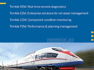 Trimble rail asset lifecycle management product suite