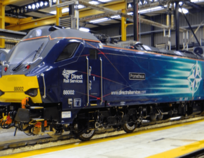Direct Rail Services Receives First Class 88 Locomotive from Stadler