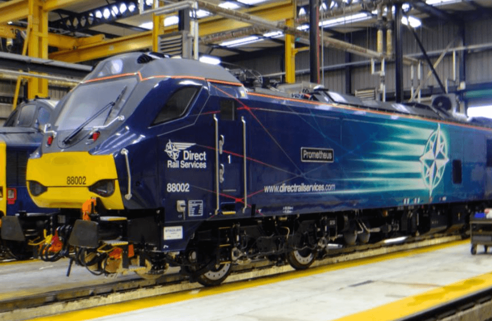 88002 Prometheus at DRS Kingmoor Depot