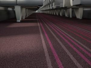 Coral Move FR saloon carpet