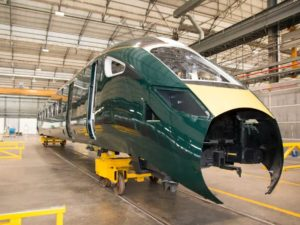 InterCity Express Train bodyshell in Italy