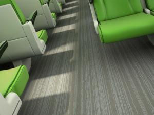 Digitally printed Flotex FR flocked flooring