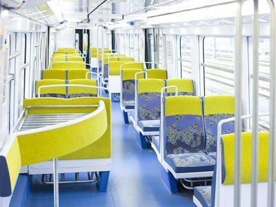RER B train interiors