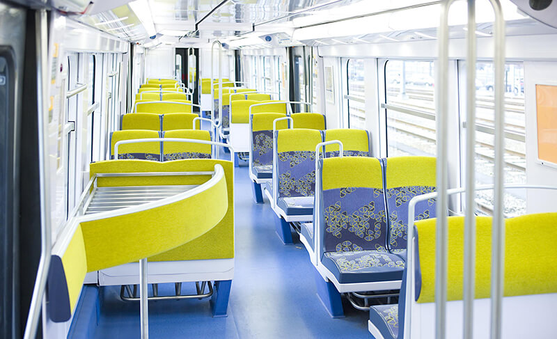 RER B train interiors
