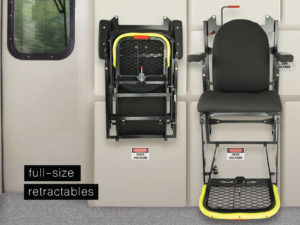 Baultars Full Size Retractable Seat for Trains
