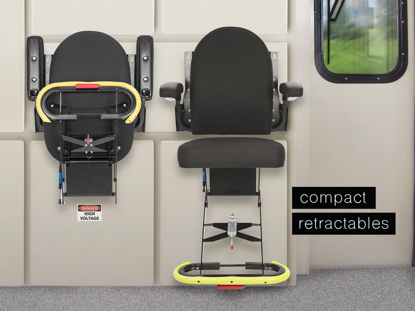 Baultar's Compact Retractable Seat