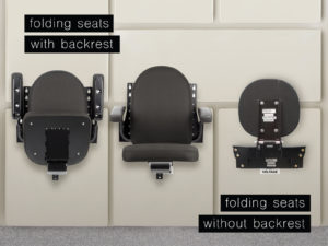 Baultars folding seats for trains