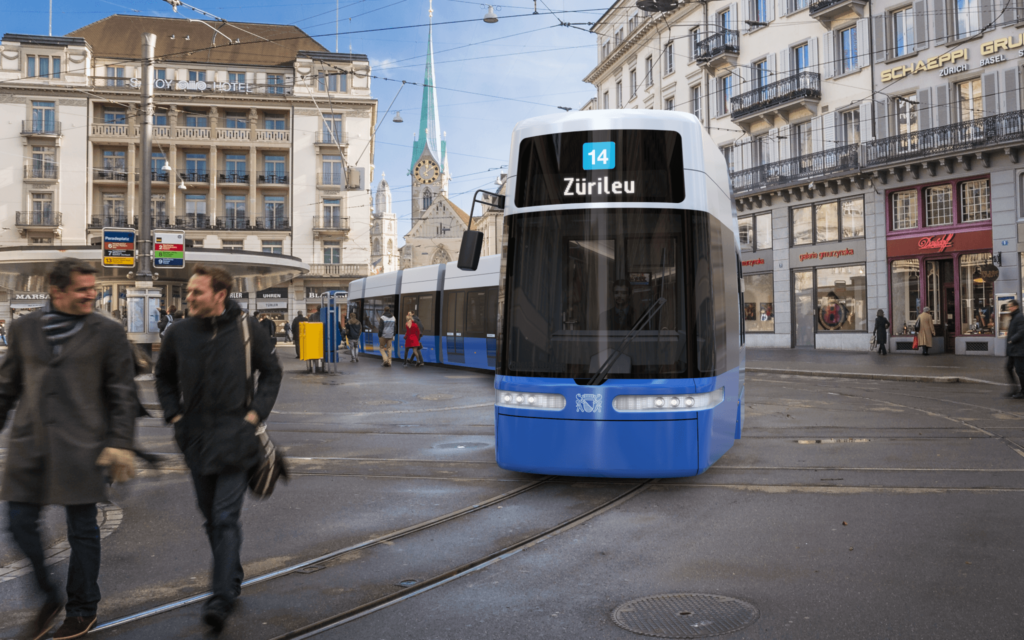 Low Floor Bombardier FLEXITY tram Zurich