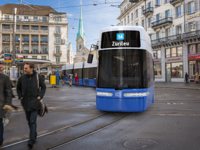 Low Floor FLEXITY tram Zurich