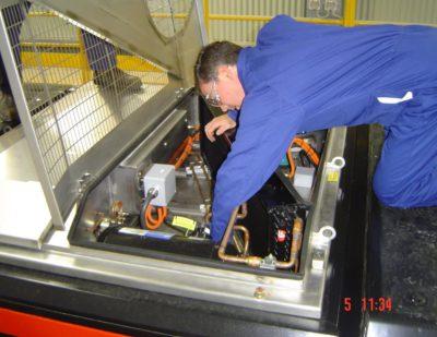 Commissioning Locomotive HVAC unit
