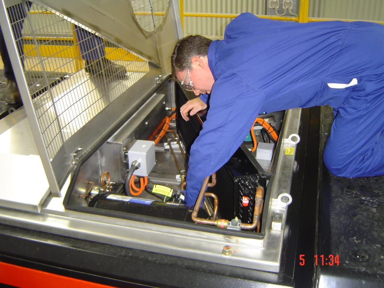 Commissioning of Locomotive HVAC unit