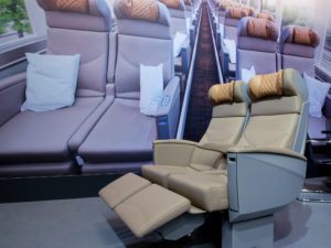 E-Leather Comfortable Train Interiors