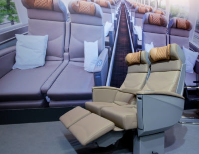 ELeather Comfortable Train Interiors