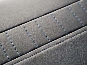 E-Leather Train Seating Stitching Design