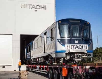 Hitachi Delivers First Train to Miami MetroRail