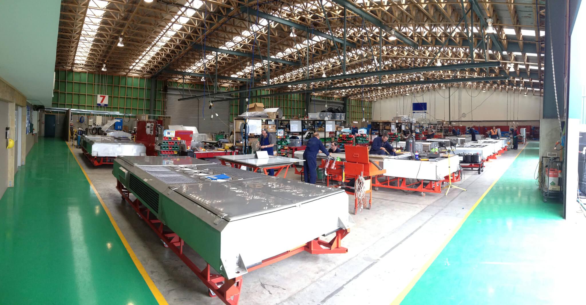 Noske-Kaeser Rail & Vehicle main assembly hall