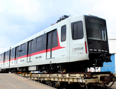 First LRV Arrives for Commissioning on Guadalajara's Line 1