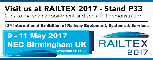 TrainFX at Railtex 2017 - Stand P33