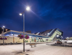 Smart lighting at Reading Station