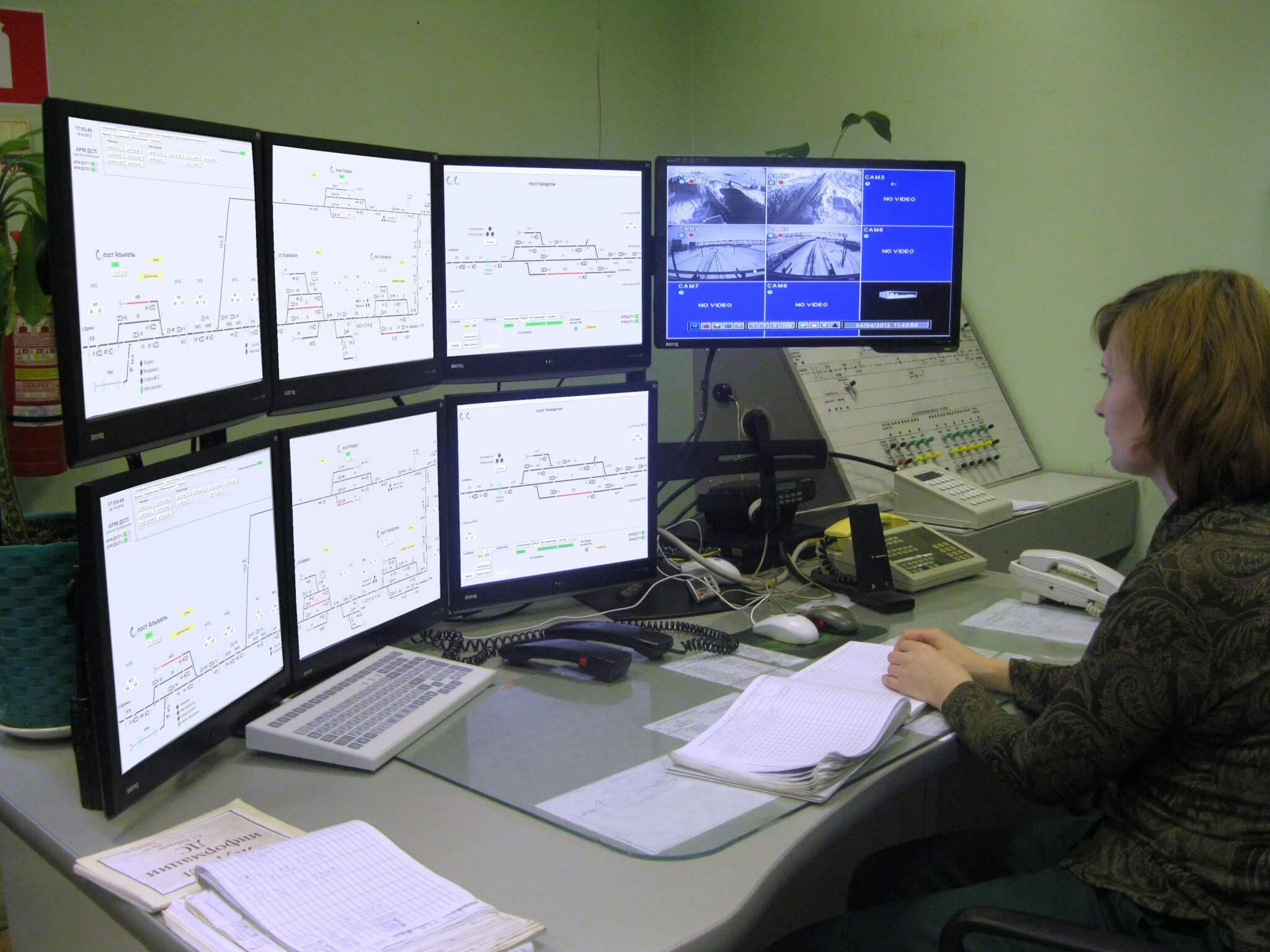 Station rail operator work terminal (MPC-I)