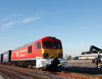 First UK to China Rail Freight Service Departs