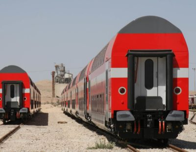 Israel Railways Orders Additional Double-Deck Coaches