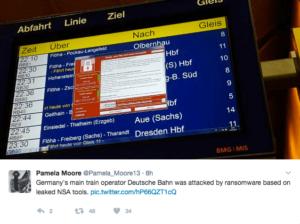 Global Cyber Attack Hits Deutsche Bahn