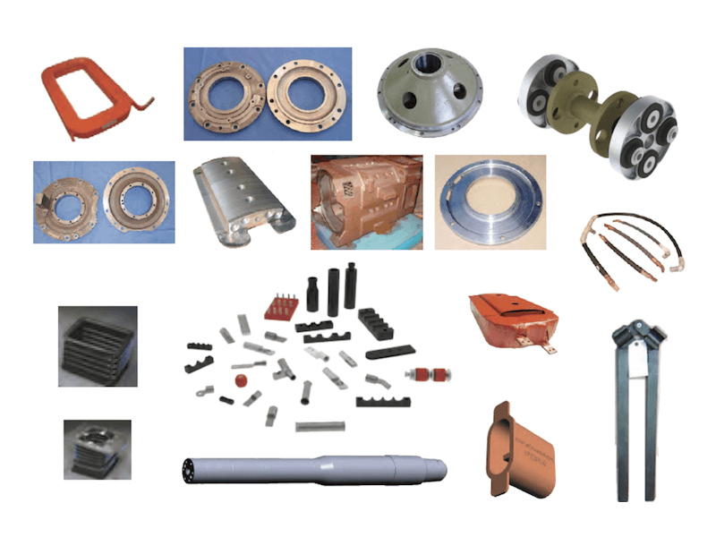 Traction Motor Caps, Slingers, and Other Components