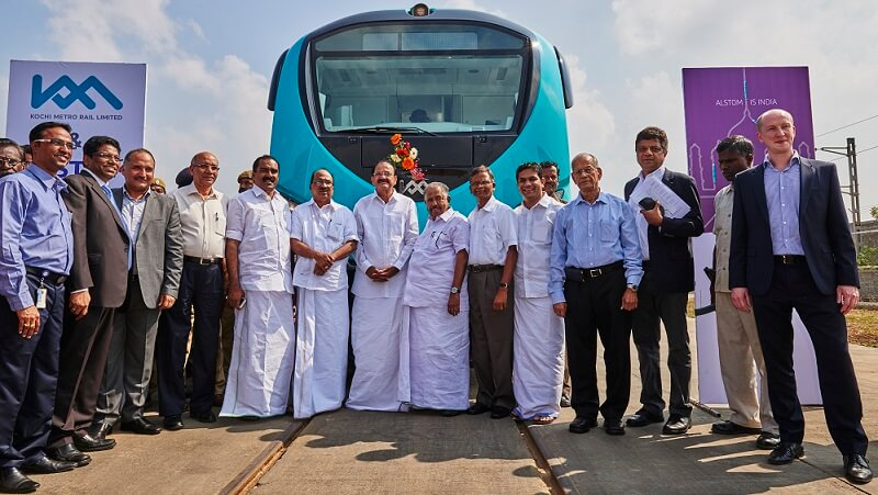 Alstom delivers its Metropolis cars for the Kochi Metro