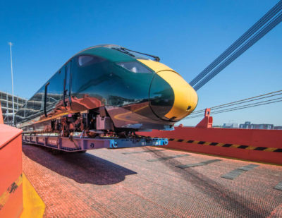 Hitachi Test Train for Devon and Cornwall Arrives in the UK