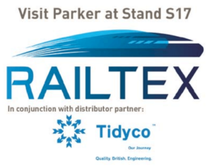 Parker Hannifin Partners with Tidyco to Showcase Motion and Control Solutions for the Rail Industry at Railtex 2017