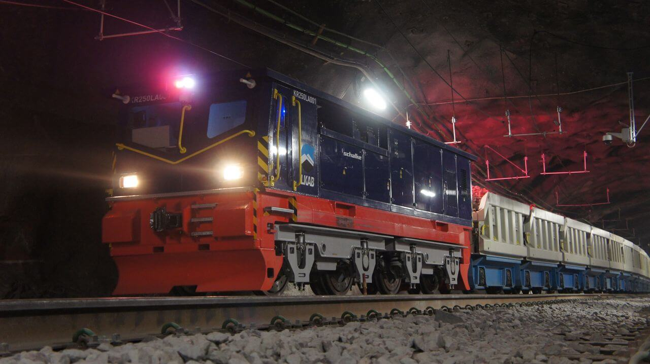 MT-M-900-BEE Production Locomotive LKAB, Sweden Mine Kiruna (1.365 m Level)