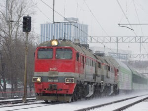 Russian Railways Freight Train