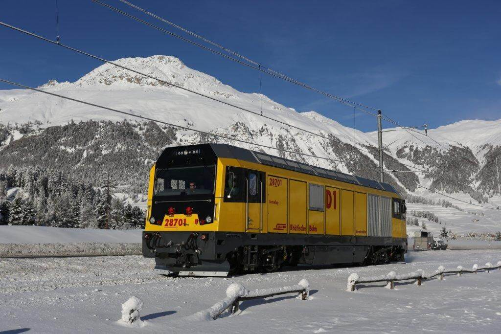 ST-S-1800-D Diesel Electric Locomotive Gmf 4/4 287 Rhaetian Railway, Switzerland, Narrow-Gauge Rail Operator