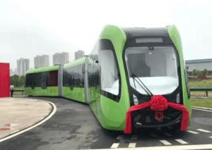 World's First 'Railless Train' Unveiled in China