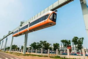 Suspended Monorail Train