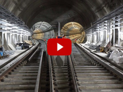 Crossrail: New Footage Reveals Tunnel Fit-Out Progress