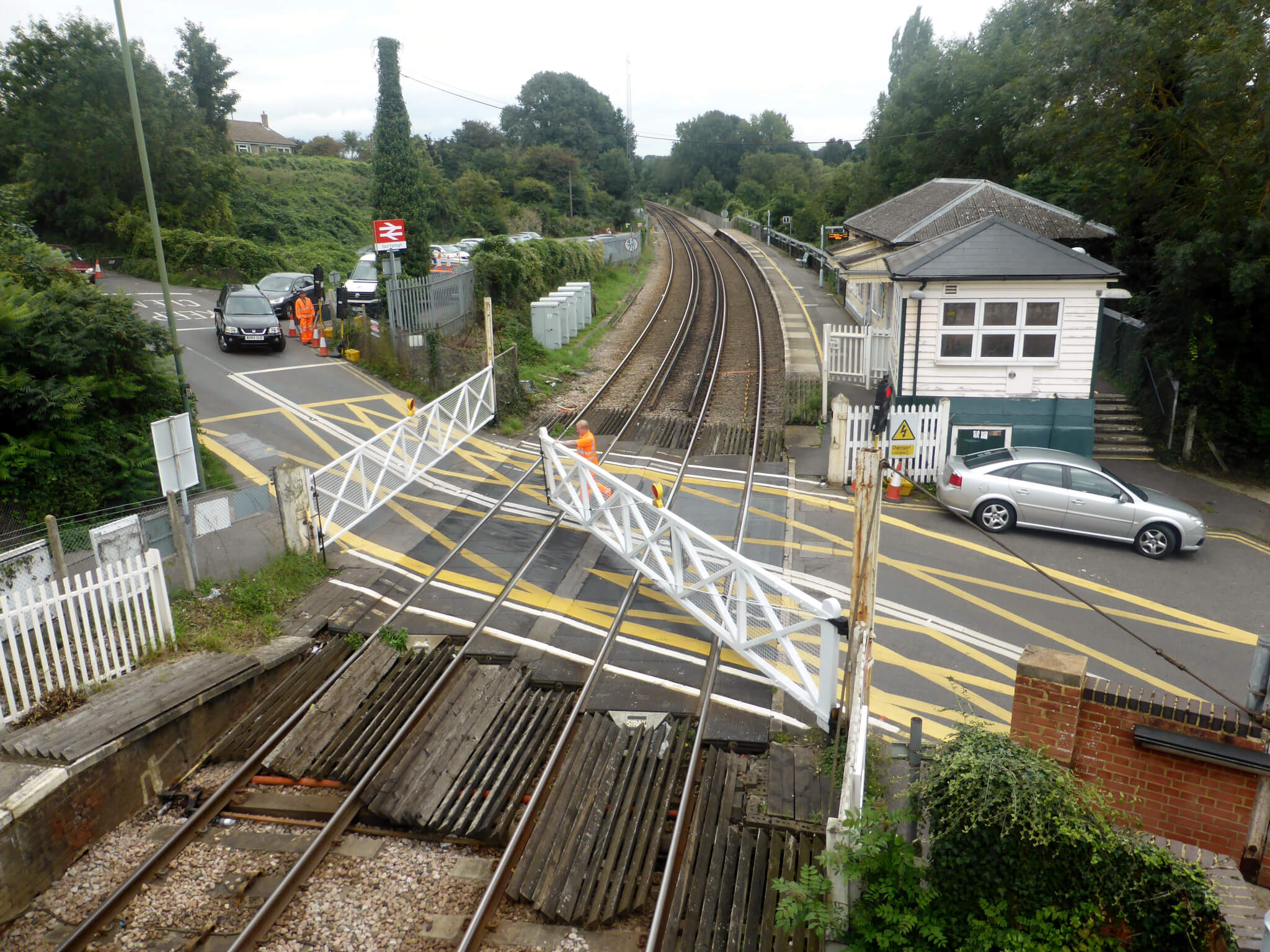 The UK still has manually-operated level crossings.
