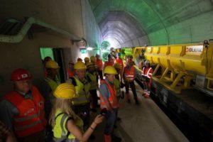 Switzerland: Tracklaying Under Way in Ceneri Base Tunnel