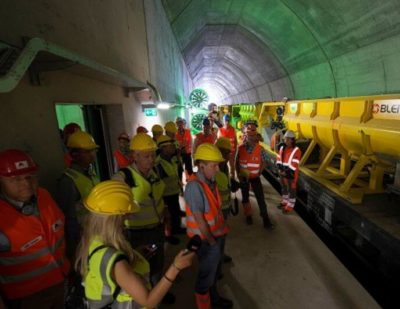 Switzerland: Tracklaying Under Way in Ceneri Base Tunnel