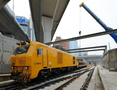 Tracklaying for Hong Kong's East West Corridor Completed