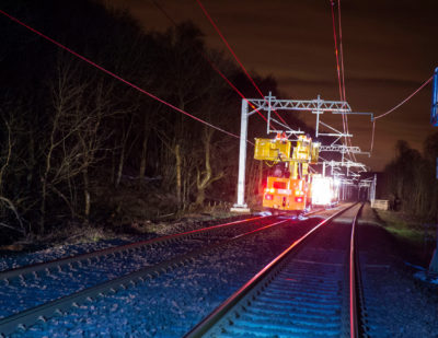 Edinburgh-Glasgow Line Electrification Goes Live for Testing