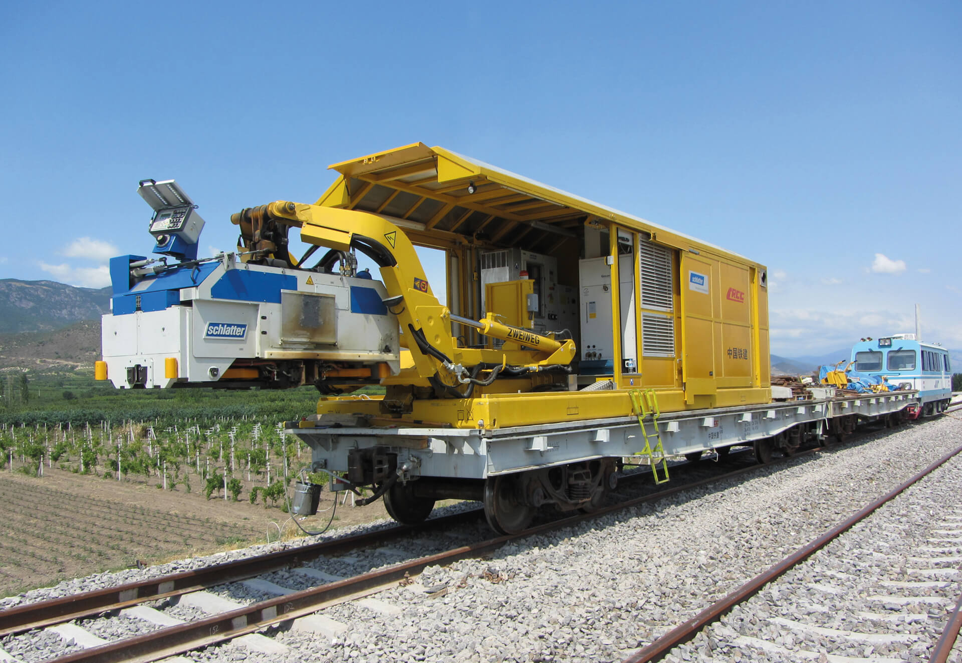 Container based welding systems are especially suitable for welding continuous welded rails directly in new railway track