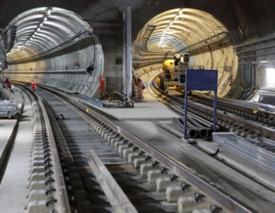 Track Installation Work Completed on London's Newest Railway