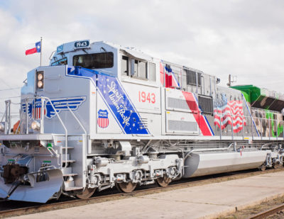 Union Pacific Unveils Locomotive Honouring U.S. Armed Forces