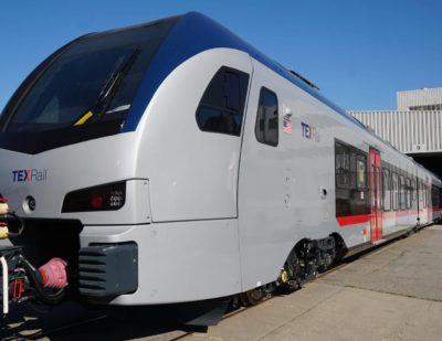 Stadler Unveils First FLIRT Train for the TEXRail Commuter Line