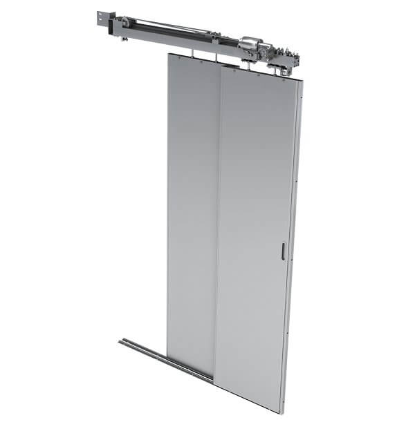 Telescopic doors for small space envelope
