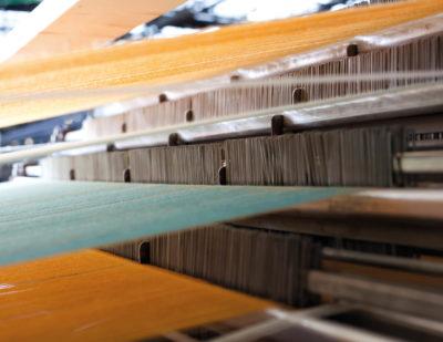 Fabric in loom